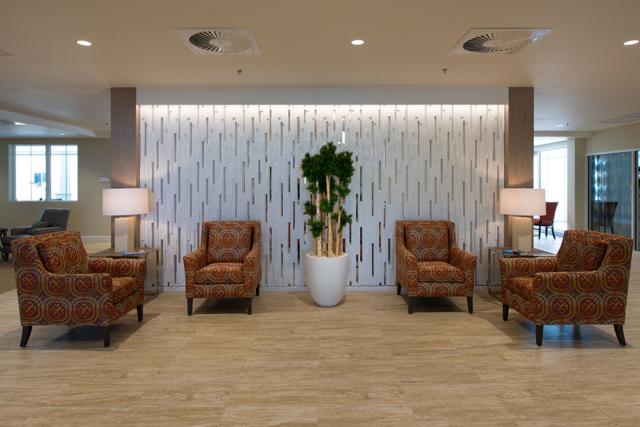 Jensen Dunes lobby sitting area